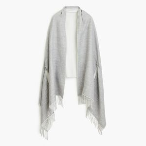 Jcrew reversible cape scarf NWT